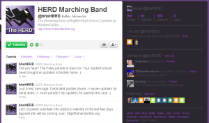 BHSHerd's Twiter Page