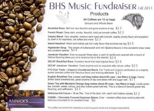 Coffee Fundraiser details