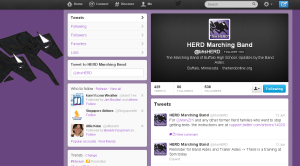 Screenshot of BHSHerd on Twitter